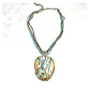 Chico's Multistrand Necklace with Pendant